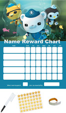 Octanauts Personalised Reward Behaviour Chart Free Pen,Stickers, Adhesive Pads