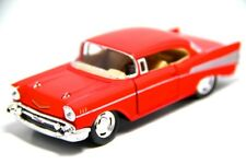 "New 5"" Kinsmart 1957 Chevrolet Bel Air Diecast Model Toy Car 1:40 Chevy Red"