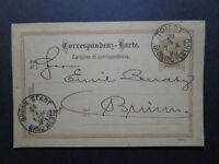 Austria 2Kr Postal Card Used / Trieste to Brunn / Nice Cancels - Z7497