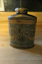 1930's40Eagle Brand Suede Powder full tin advertising container,shoe polish co