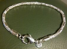 SB 54 Silver bracelet 20cm x 4mm popular links chain 925 stamped Plum UK BOXED
