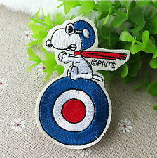 Snoopy MOD target Cartoon Appliques Embroidery Iron on Patch