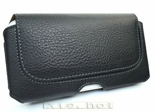 Black Hanging waist belt clip pu Leather Case For Samsung Galaxy Note 3 N9000
