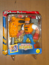 1997 VINTAGE FISHER PRICE RESCUE HEROES CONSTRUCTION SPECIALIST JACK HAMMER MIB