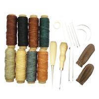 22pcs in pelle artigianale cucitura a mano strumenti per cucire kit di