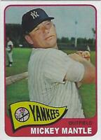 1965 MICKEY MANTLE TOPPS # 350 YANKEES RP BEAUTIFUL CARD EX-MT