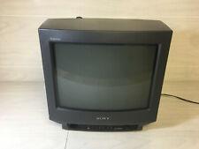 Sony Trinitron KV-141U Retro Gaming CRT TV - PAL 50Hz RCA, RGB, Lagless Speedrun