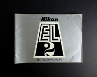 Nikon EL 2 35mm SLR Camera Instruction Manual