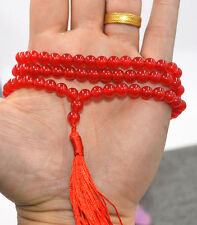 HOT 6mm Tibetan Buddhism 108 red ruby stone Prayer Bead Mala Necklace AAA