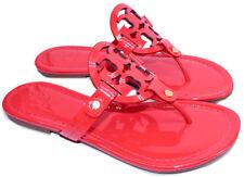 Tory Burch Miller Thong Sandal Pink Red Patent Flip Flop 5 Slide