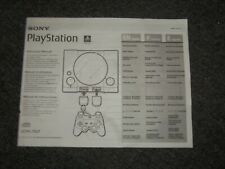 Sony Playstation 1 PS1 Console Instruction Manual ONLY Model SCPH-7501