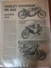 Clipping / artikel Harley Davidson 250cc / 350cc / 500cc (NED/GER) 7 pages