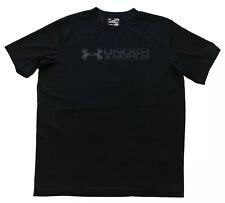 Under Armour Men's Heat Gear Short Sleeve T Shirt Size XL Black Moisture Wicking