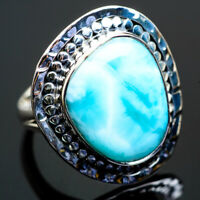 Large Larimar 925 Sterling Silver Ring Size 8 Ana Co Jewelry R996241F