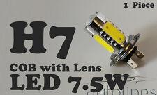 1 x H7 7.5W 12V 600LM LED COB Lens Xenon Super White Fog Lamp Globes Bulbs