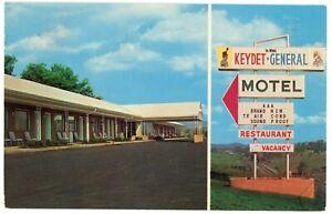 Chrome Postcard - Lexington, Virginia Kaydet-General Motel on U.S. Hwy 60 - 1967