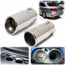 Car Auto Vehicle Chrome Exhaust Pipe Tip Muffler Steel Stainless Trim Tail Tube