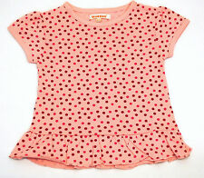 Girls Ex Debenhams Jersey Dress Top Pink Polka Dots Age 12 Months to 6 Years