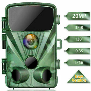 TOGUARD 20MP Trail Deer Camera 1080P Outdoor Wildlife Hunting Cam Night Vision