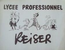 Jean-Marc REISER (1941-1983) poster lycée professionel P1322