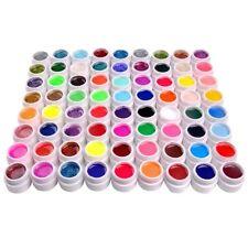 72 Gemischte Farben UV Gel Set Neu Töpfe Glitzern& Pure Farben UV Gel