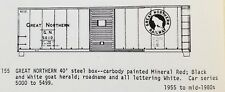 LMH C-D-S CDS 155 GREAT NORTHERN 40' Steel Boxcar GN 1955-1980s Dry Transfer