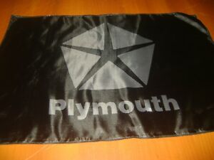 "Plymouth Logo 20x30"" Flag Banner Show Garage Racing Shop Deco Mercury Muscle Car"