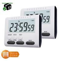 Minuteur de cuisine multi fonctions timer digital avec sonnerie - Pince Aimant