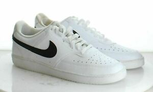 W3 New $65 Men's Size 14 Nike Court Vision Low Sneaker in White w/ Black