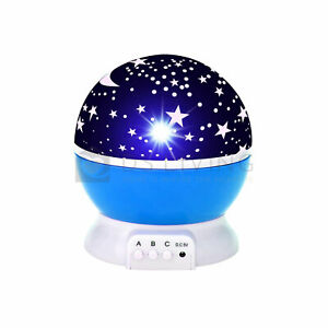 Starry Night Light Projector Star Sky Moon Lamp Kids Bedroom lights