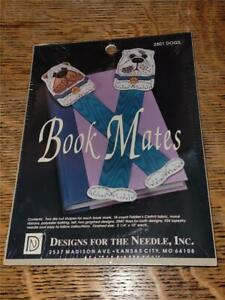1991 NIP Counted Cross Stitch Craft Kit 2 Book Mates Bookmarks Dogs 2801