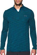 UNDER ARMOUR 1/4 Zip Threadborne Men Size L Seamless L/S Shirt 1298911-953