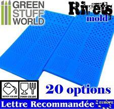Pack x2 MOULES en silicone RIVETS semi-translucides - modélisme miniature 40K