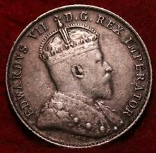 1905 Canada 10 Cents Silver Foreign Coin