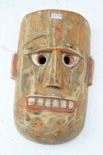 Antique Old HandCarved Painted Wooden Tribal Demon Face Mask Wall Hanging NH2137