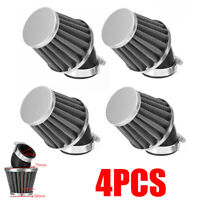 4x 42mm Air Filter Pod 45 Degree Bend Inlet For Motorcycle Scooter ATV Dirt Bike