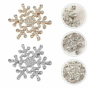 Snowflake Corsage Party Dressing Brooch Clothing Accessory for Women Lady Gift