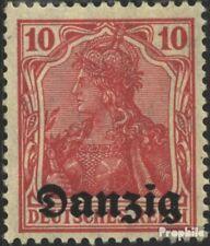 Danzig Mi.-Aantal.: 2 met Fold 1920 Germania-Afdrukken
