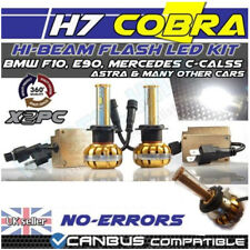 H7 COBRA COB CREE HIGH POWERED 3000LM WHITE FOG FLASH DIPPED HIGH BEAM 2LED 30w
