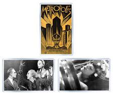 METROPOLIS 1927 FRITZ LANG SET OF 3 FRIDGE MAGNET 3 IMANES NEVERA