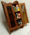 Vintage Spice Rack Handmade Mid Century Rustic Cabinet - One Of A Kind