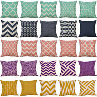 Fashion Mustard Pillow Case Geometric Fall Autumn Sofa Cushion Cover Home Decor