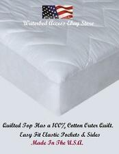 Cotton Mattress Pad For Twin & Single size Spring, Air, foam & Latex beds