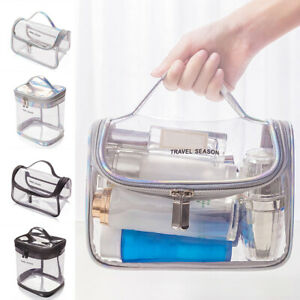Clear Wash Bag Travel Makeup Cosmetic Transparent PVC Toiletry Pouch Organizer