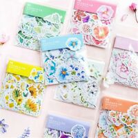 45PCS Cute Diary Flower Decor Stickers Scrapbooking Stationery Supply LOTS AU