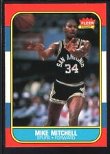 MIKE MITCHELL 1986/87 FLEER BASKETBALL CARD #74 SPURS
