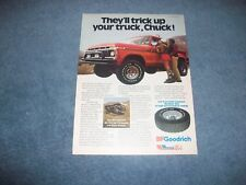 """1979 BFGoodrich T/A All-Terrain Tires Vintage Ad """"They'll Trick Up Your Truck.."""""""