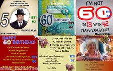 6xGeburtstags-Flaschenaufkleber mit Bild und der Geburtstagszahl Ihres Wunsches