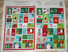 Dear Santa Advent Calendar Christmas Studio E Fabric Panel #3316P 1 Yard