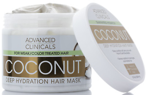 Advanced Clinicals Coconut Oil Deep Hydration Hair Mask 12 Fl Oz (355mL)